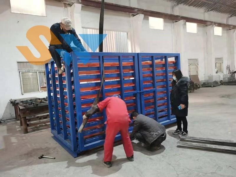 板材存储货架调试中 (4)