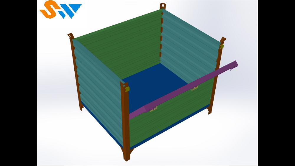 样式固定的吊挂式钢制料箱