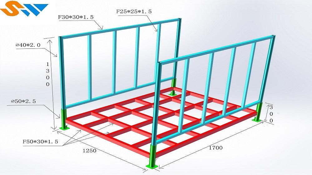 堆垛架尺寸示意图