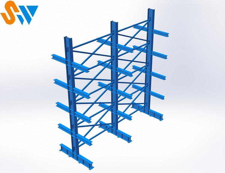 森沃仓储:悬臂货架效果图 (2)