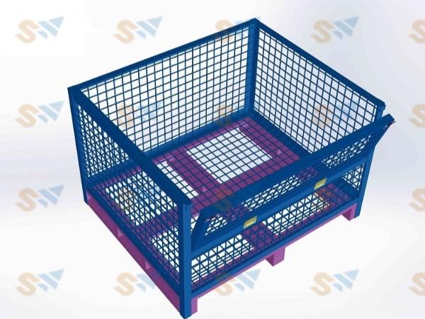 森沃仓储:简析单边折叠网格钢制料箱