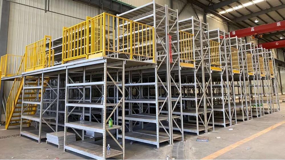 南京货架定制厂家:二层阁楼式货架项目安装完成