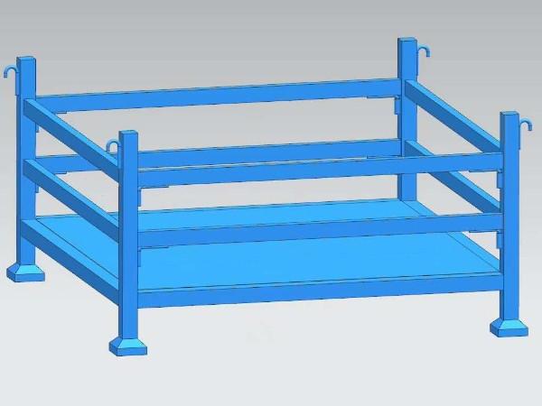 森沃仓储将堆垛架从设计图变成制造出来的实物