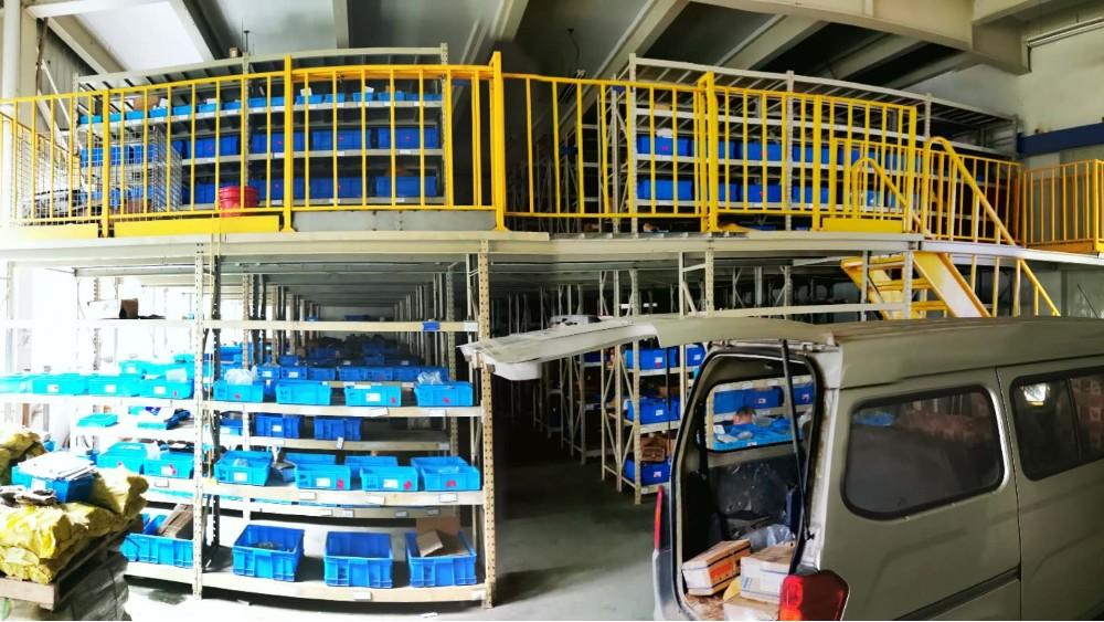 阁楼货架项目安装完成,南京重型货架厂家请您观赏!