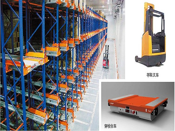 南京货架生产厂家简述:穿梭车+叉车半自动化立体库