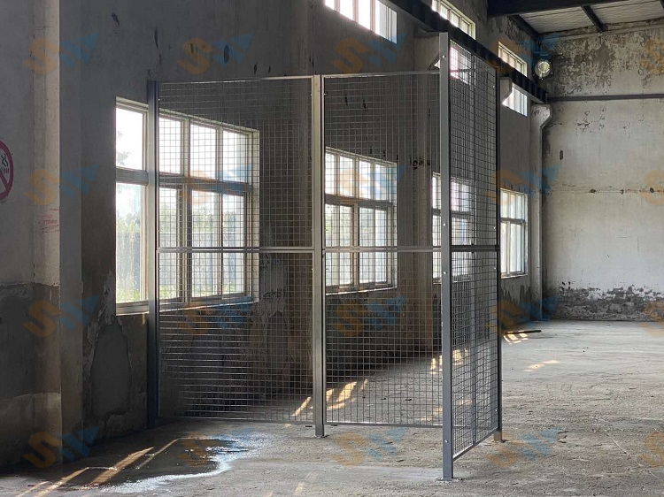 森沃仓储:隔离网现场