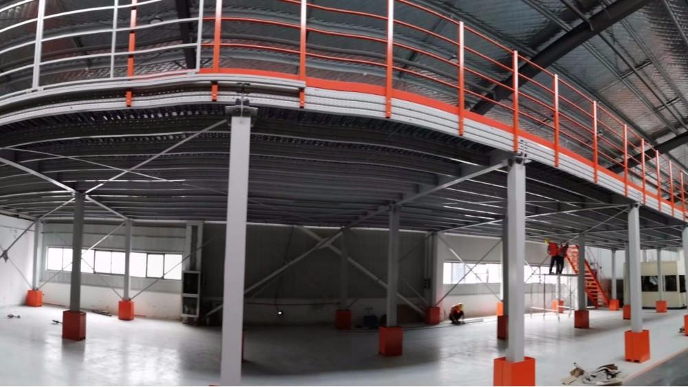 森沃仓储货架厂:钢平台货架安装现场