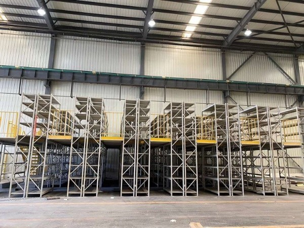 南京阁楼货架厂家带你参观阁楼货架安装现场