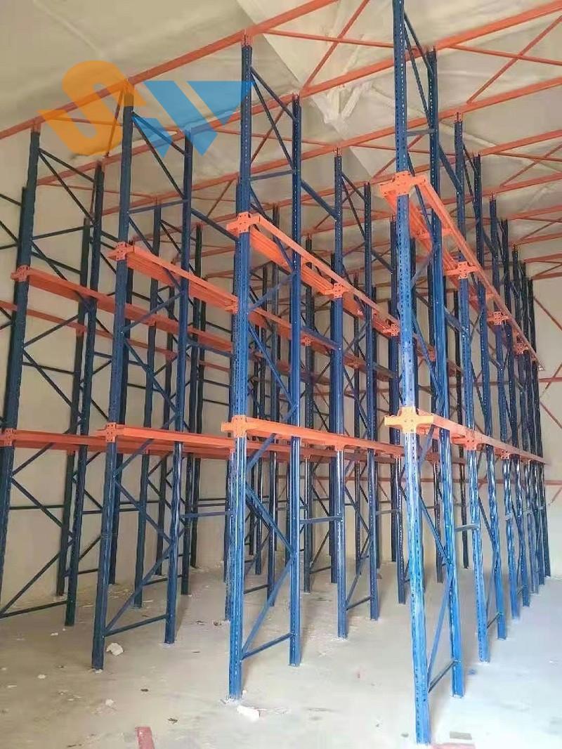 森沃仓储:安装好的贯通货架