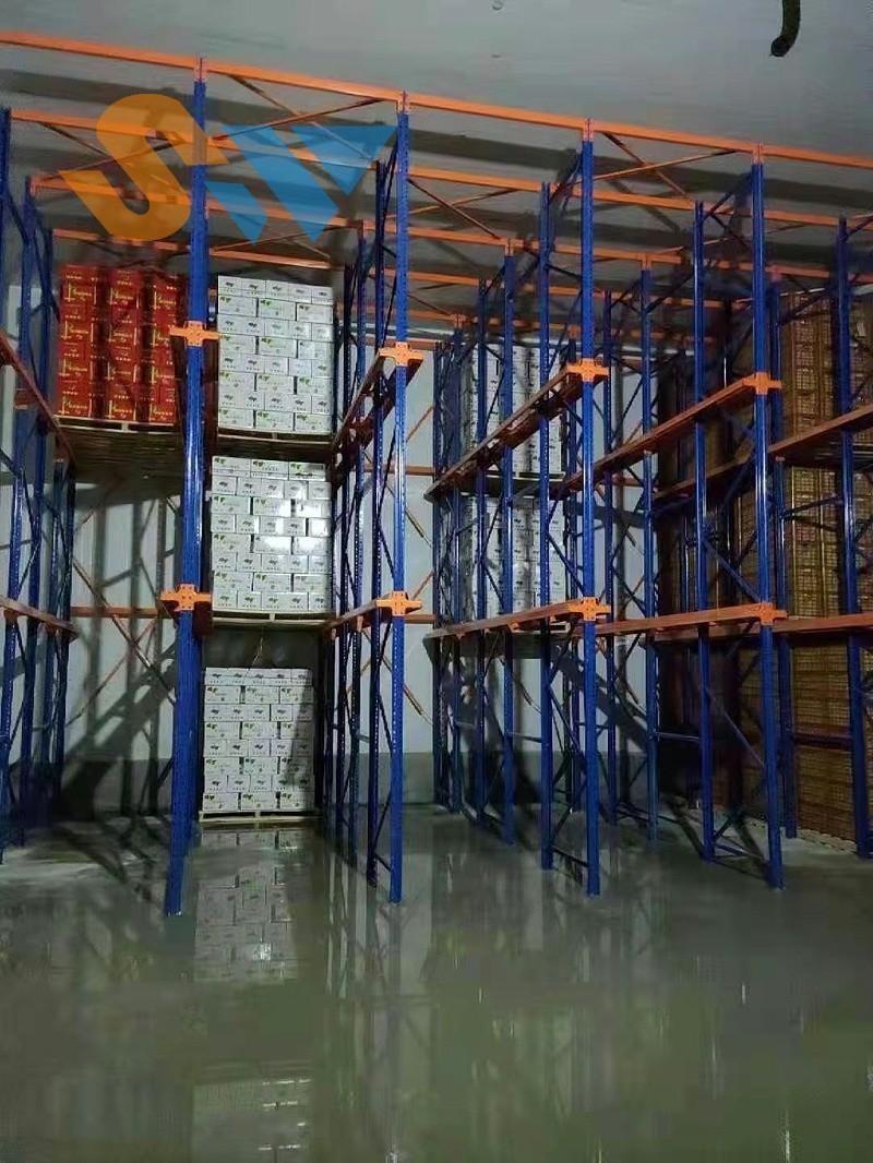 森沃仓储:开始投入使用的贯通货架