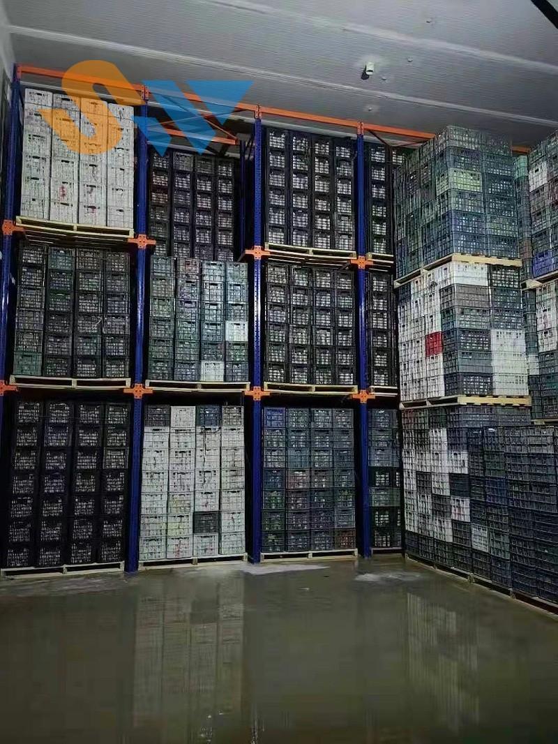 森沃仓储:正式投入使用的贯通货架 (1)