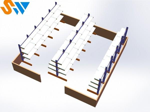森沃仓储教你如何将层板搭配到悬臂货架中