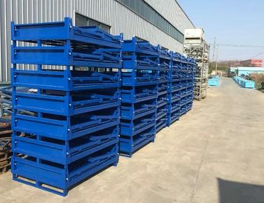 森沃仓储:叉车折叠钢制料箱 (1)