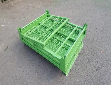 森沃仓储:折叠网格钢制料箱 (1)