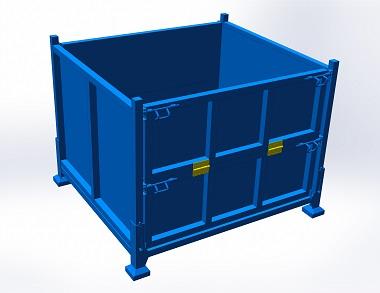 森沃仓储:叉车钢制料箱 (1)